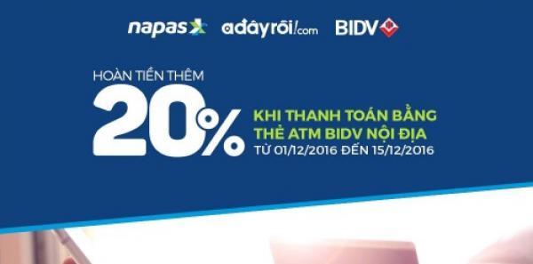 BIDV hợp tác với Adayroi ưu đãi hoàn tiền cho KH thanh toán bằng ATM nội địa