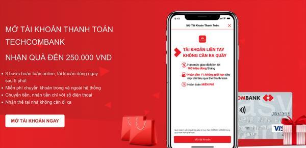 Online Banking đăng ký hoàn toàn online