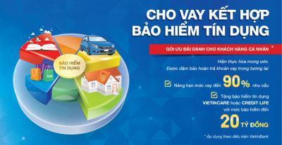VietinBank nâng hạn mức tín dụng lên đến 90%