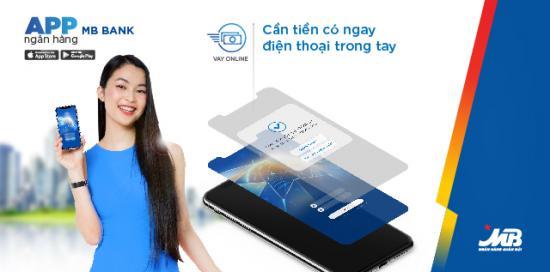 App MB Bank, Vay online trên App MB