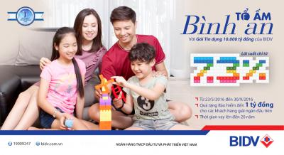 BIDV mở rộng gói tín dụng Tổ ấm Bình An 2016