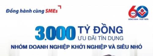BIDV dành 3000 tỷ đồng ưu đãi DN siêu nhỏ và DN khởi nghiệp