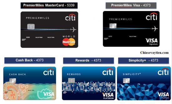 Các thanh toán thẻ tín dụng citibank