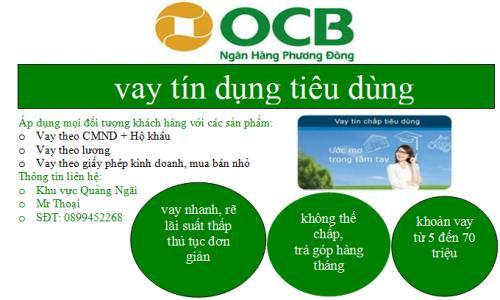 Cho vay tiêu dùng tín chấp OCB
