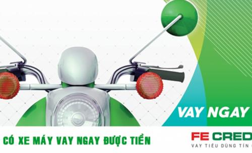 FE Credit cho vay tiền bằng đăng ký xe máy Lãi Suất Từ 1,66%/tháng