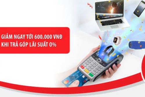 FPT Shop mua điện thoại trả góp lãi suất 0% bằng thẻ tín dụng