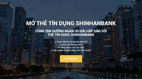Thẻ Tín dụng Shinhan Visa Platinum