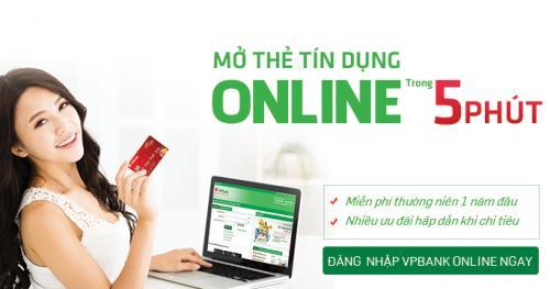 Mở thẻ tín dụng online trong 5 phút