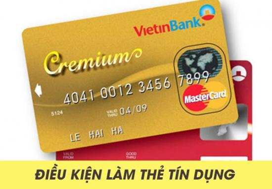 Mở thẻ tín dụng Vietinbank