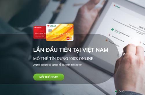 VPbank Mở thẻ tín dụng 100% online