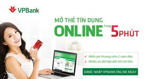 Mở thẻ tín dụng VPBank