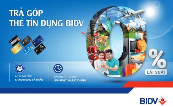 Mua trả góp bằng thẻ tín dụng BIDV