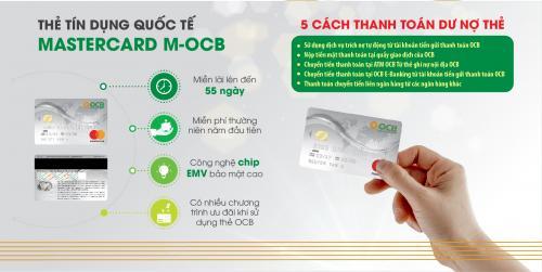 Thẻ tín dụng quốc tế Mastercard M-OCB