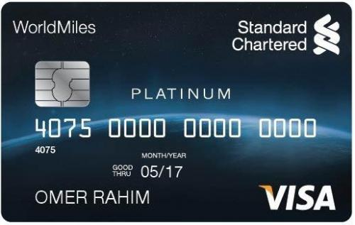 Thẻ tín dụng Standard Chartered WorldMiles