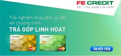 Mua sắm bằng thẻ tín dụng FE CREDIT với lãi suất hấp dẫn