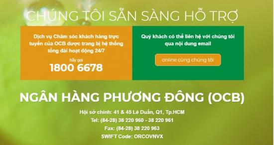 Hotline OCB, Trung tâm Dịch vụ khách hàng 24/7 OCB