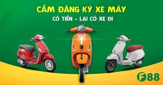 F88 Vay tiền bằng đăng ký xe máy