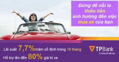 TPBank có sản phẩm cho vay mua ô tô tốt nhất thị trường Việt Nam