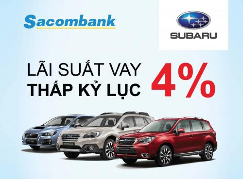 Sacombank liên kết với Subaru ưu đãi khách hàng mua xe