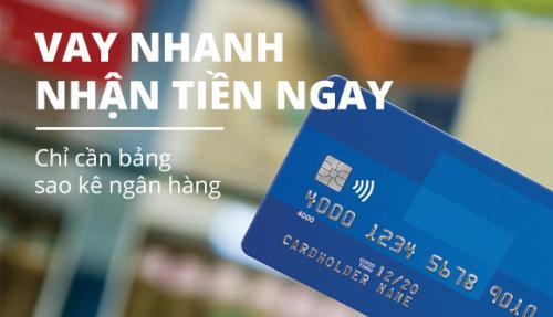 Vay tín chấp theo sao kê tài khoản Ngân hàng