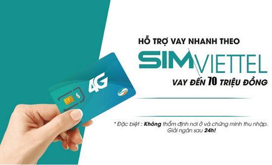 Vay theo Sim, vay tiền trả góp theo sim Vinaphone sim Viettel sim Vina