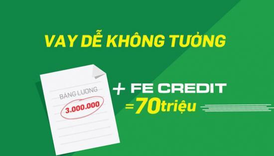 Vay tiền FE Credit, Vay tiền FE Credit trả góp hàng tháng