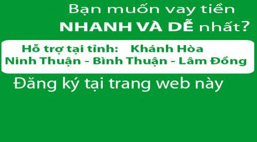 Vay tiền mặt trả góp không thế chấp tại Ninh Thuận