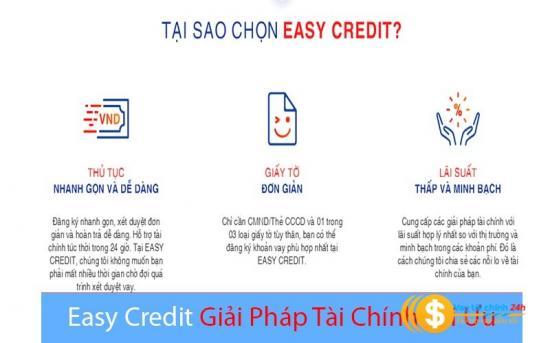 Vay tiêu dùng tín chấp EASY CREDIT, nhận tiền trong vòng 24h