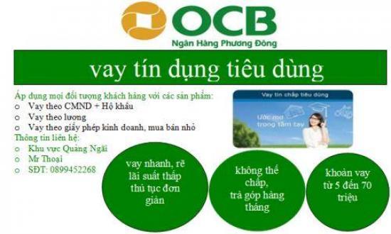 Vay OCB, vay tín chấp ngân hàng Phương Đông OCB 2020