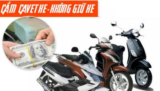 Vay tín chấp cavet xe máy 2019