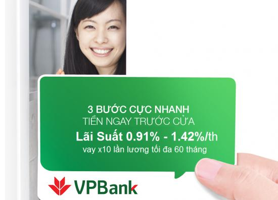 Vay tín chấp VPBank 2020, vay không thế chấp VPBank
