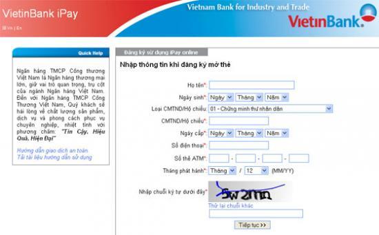 Vietinbank internet banking