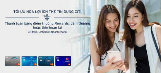 Hướng dẫn đổi điểm thưởng Citibank Cashback