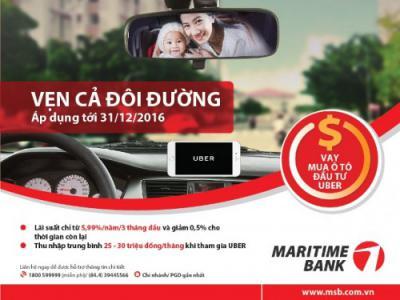 Maritimebank cho Vay mua ô tô đầu tư Uber với lãi suất chỉ từ 5,99%