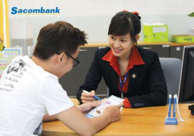 Vay tín chấp theo lương Sacombank