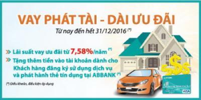 ABBank cho vay sản xuất kinh doanh với lãi suất chỉ từ 7,58%/năm