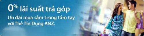Thẻ tin dụng Ngân hàng ANZ vay mua trả góp ưu đãi 0% lãi suất