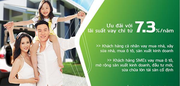 Vay tiền trả góp Ngân hàng Vietcombank