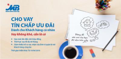 MB Bank cho vay tín chấp ưu đãi khách hàng cá nhân