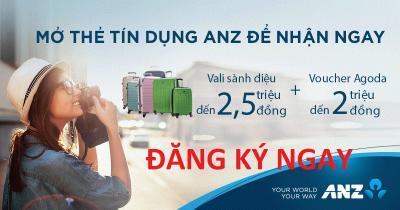 Mở thẻ tín dụng quốc tế ANZ Online