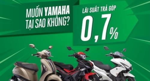 Cơ hội mua xe máy Yamaha với lãi suất hấp dẫn