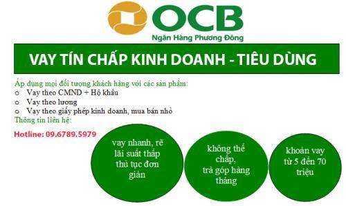 OCB hỗ Trợ Vay Tín Chấp Kinh Doanh Tiêu Dùng