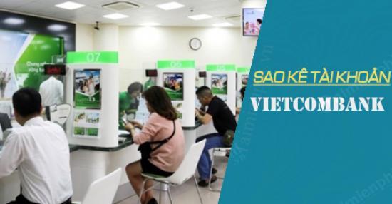 Sao kê lương vietcombank online