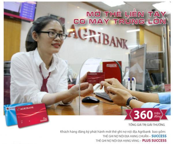 Mở mới thẻ ghi nợ nội địa Agribank, cơ hội trúng 100 triệu đồng