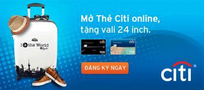 Mở thẻ tín dụng Citibank Online