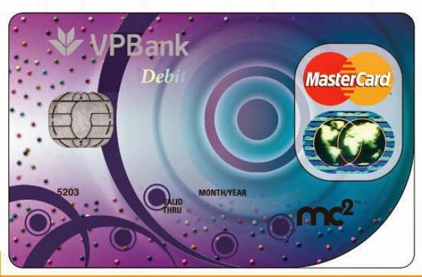 Thẻ tín dụng Ngân hàng VPbank Mastercard MC2