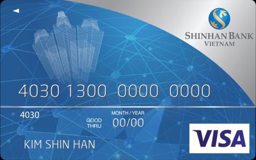 Thẻ tín dụng Quốc tế Visa ShinhanBank cá nhân hạng Chuẩn