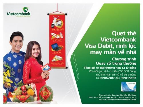 Quẹt thẻ Vietcombank Visa Debit để có cơ hội trúng xe Vespa Primavera