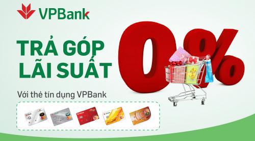 thẻ tín dụng vpbank trả góp 0