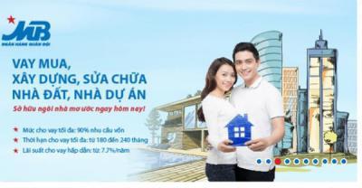 MBBank cho vay mua, xây sửa nhà lãi suất từ 7,7%/năm